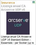 Licença anual CA Arcserve UDP v6 Standard Edition - Essentials - per Socket (up to 6 per customer) License Only UPGRADE-from-Earlier-Version-of-Same-Product License (Figura somente ilustrativa, não representa o produto real)