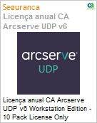 Licen�a anual CA Arcserve UDP v6 Workstation Edition - 10 Pack License Only  (Figura somente ilustrativa, n�o representa o produto real)