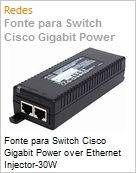 Fonte para Switch Cisco Gigabit Power over Ethernet Injector-30W (Figura somente ilustrativa, n�o representa o produto real)