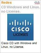 Cisco CD with Windows and Linux. no License.  (Figura somente ilustrativa, não representa o produto real)
