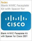 Blank H/WIC Faceplate Kit with Spacer for Cisco 2801  (Figura somente ilustrativa, n�o representa o produto real)