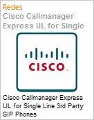 Cisco Callmanager Express UL for Single Line 3rd Party SIP Phones  (Figura somente ilustrativa, n�o representa o produto real)