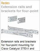 Extension rails and brackets for four-point mounting for Cisco Catalyst 3750-X and 3560-X Series  (Figura somente ilustrativa, não representa o produto real)