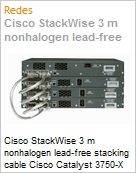 Cisco StackWise 3 m nonhalogen lead-free stacking cable Cisco Catalyst 3750-X StackPower cable 30 cm spare  (Figura somente ilustrativa, não representa o produto real)