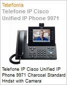Telefone IP Cisco Unified IP Phone 9971 Charcoal Standard Hndst with Camera  (Figura somente ilustrativa, n�o representa o produto real)