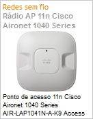 Ponto de acesso 11n Cisco Aironet 1040 Series AIR-LAP1041N-A-K9 Access Point Single-Band Controller-Based Wireless N com antenas internas  (Figura somente ilustrativa, n�o representa o produto real)