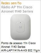 Ponto de acesso 11n Cisco Aironet 1140 Series AIR-LAP1141N-A-K9 802.11g/n Fixed Unified Access Point Internal Antennas  (Figura somente ilustrativa, n�o representa o produto real)