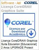 Licen�a CorelDRAW Graphics Suite Education [Educacional] 2 Anos UPGRADE Protect [51-250 BP/ES/EN Windows  (Figura somente ilustrativa, n�o representa o produto real)
