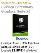 Licen�a CorelDRAW Graphics Suite X8 Single User [SU] License ES/BP/EN Windows  (Figura somente ilustrativa, n�o representa o produto real)