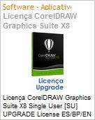 Licen�a CorelDRAW Graphics Suite X8 Single User [SU] UPGRADE License ES/BP/EN Windows  (Figura somente ilustrativa, n�o representa o produto real)