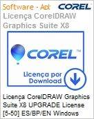 Licen�a CorelDRAW Graphics Suite X8 UPGRADE License [5-50] ES/BP/EN Windows  (Figura somente ilustrativa, n�o representa o produto real)