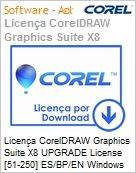 Licen�a CorelDRAW Graphics Suite X8 UPGRADE License [51-250] ES/BP/EN Windows  (Figura somente ilustrativa, n�o representa o produto real)