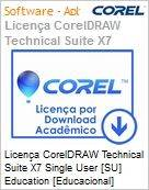 Licença CorelDRAW Technical Suite X7 Single User [SU] Education [Educacional] License ML EN Windows  (Figura somente ilustrativa, não representa o produto real)