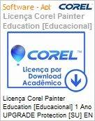 Licen�a Corel Painter Education [Educacional] 1 Ano UPGRADE Protection [SU] EN Windows/Mac  (Figura somente ilustrativa, n�o representa o produto real)