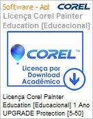 Licen�a Corel Painter Education [Educacional] 1 Ano UPGRADE Protection [5-50] EN Windows/Mac  (Figura somente ilustrativa, n�o representa o produto real)