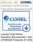 Licen�a Corel Painter Education [Educacional] 1 Ano UPGRADE Protection [51-250] EN Windows/Mac  (Figura somente ilustrativa, n�o representa o produto real)