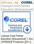Licen�a Corel Painter Education [Educacional] 1 Ano UPGRADE Protection [251+] EN Windows/Mac  (Figura somente ilustrativa, n�o representa o produto real)