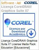 Licen�a CorelDRAW Graphics Suite X7 License Media Pack Education [Educacional] BR/ES/EN/FR Windows (Figura somente ilustrativa, n�o representa o produto real)