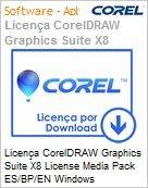 Licen�a CorelDRAW Graphics Suite X8 License Media Pack ES/BP/EN Windows  (Figura somente ilustrativa, n�o representa o produto real)