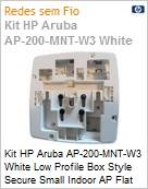 Kit Aruba HP AP-200-MNT-W3 White Low Profile Box Style Secure Small Indoor AP Flat Surface Mount Kit (Figura somente ilustrativa, não representa o produto real)