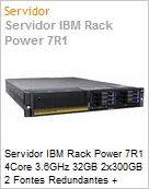Servidor IBM Rack Power 7R1 4Core 3.6GHz 32GB 2x300GB 2 Fontes Redundantes + PowerLinux VM + Linux Red Hat AS6  (Figura somente ilustrativa, n�o representa o produto real)