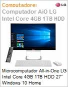 Microcomputador All-in-One LG Intel Core 4GB 1TB HDD 27 Windows 10 Home  (Figura somente ilustrativa, não representa o produto real)