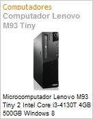 Microcomputador Lenovo M93 Tiny 2 Intel Core i3-4130T 4GB 500GB Windows 8 Professional  (Figura somente ilustrativa, n�o representa o produto real)