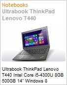Ultrabook ThinkPad Lenovo T440 Intel Core i5-4300U 8GB 500GB 14 Windows 8 Professional  (Figura somente ilustrativa, n�o representa o produto real)