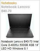 Notebook Lenovo B40-70 Intel Core i3-4005U 500GB 4GB 14 LED HD Windows 8.1 Professional 64 bits  (Figura somente ilustrativa, n�o representa o produto real)