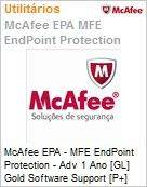 Intel Security McAfee EPA - MFE Endpoint Protection - Adv 1 Ano [GL] Gold Software Support [P+] ProtectPLUS (5-25 licen�as)  (Figura somente ilustrativa, n�o representa o produto real)
