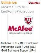 Intel Security McAfee EPS - MFE Endpoint Protection Suite 1 Ano [GL] Gold Software Support [P+] ProtectPLUS (101-250 licenças)  (Figura somente ilustrativa, não representa o produto real)