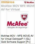 Intel Security McAfee MOV - MFE MOVE AV for Virtual DsktopsP:1 [GL] Gold Software Support [P+] ProtectPLUS (51-100 licen�as)  (Figura somente ilustrativa, n�o representa o produto real)