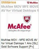 Intel Security McAfee MOV - MFE MOVE AV for Virtual Dsktops 1 Ano [GL] Gold Software Support [P+] ProtectPLUS (51-100 licen�as)  (Figura somente ilustrativa, n�o representa o produto real)