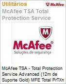 Intel Security McAfee TSA - Total Protection Service Advanced (12m de Suporte Gold) MFE Total PrTXn SVC- Advncd SB 1:1 GL (101-250)  (Figura somente ilustrativa, n�o representa o produto real)