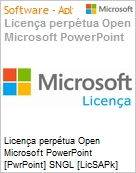 Licen�a perp�tua Open Microsoft PowerPoint [PwrPoint] SNGL [LicSAPk] Licen�a + Software Assurance OLP NL  (Figura somente ilustrativa, n�o representa o produto real)