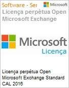 Licen�a perp�tua Open Microsoft Exchange Standard CAL 2016 [ExchgStdCAL]SNGL OLP NL DEVICE CAL Student Only Acdmc [Educacional]  (Figura somente ilustrativa, n�o representa o produto real)