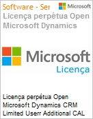 Licen�a perp�tua Open Microsoft Dynamics CRM Limited Userr Additional CAL DynCRMLtdUseAddCALSNGL [LicSAPk] OLP NL Acdmc [Educacional] DvcCAL CAL Device Qualified [QLFD] (Figura somente ilustrativa, n�o representa o produto real)