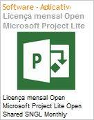Licença mensal Open Microsoft Project Lite Open Shared SNGL Monthly Subscriptions-Volume License OPEN 1 License No Level Qualified [QLFD] Annual (Figura somente ilustrativa, não representa o produto real)