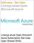 Licença anual Open Microsoft Azure Subscription Services Open Shared SNGL Subscriptions-Volume License OPEN 1 License No Level Qualified [QLFD] Annual (Figura somente ilustrativa, não representa o produto real)