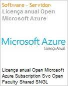 Licença anual Open Microsoft Azure Subscription Svc Open Faculty Shared SNGL Subscriptions-Volume License Academic OPEN 1 License No Level Qualified [QLFD] Annual (Figura somente ilustrativa, não representa o produto real)