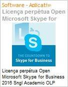 Licen�a perp�tua Open Microsoft Skype for Business 2016 Sngl Academic OLP 1License NoLevel [EDUCACIONAL]  (Figura somente ilustrativa, n�o representa o produto real)