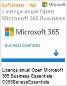 Licen�a anual Open Microsoft Office 365 Business Essential O365BsnessEssentials ShrdSvr SNGL SubsVL OLP NL Qualified Anual Qualified [QLFD] 1 Usu�rio para at� 5 PCs (Figura somente ilustrativa, n�o representa o produto real)