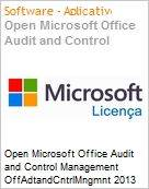 Open Microsoft Office Audit and Control Management OffAdtandCntrlMngmnt 2013 SNGL OLP NL Non-specific  (Figura somente ilustrativa, não representa o produto real)