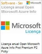 Licen�a anual Open Microsoft Azure Info Prot Premium P2 Fclty AzureInfoProtPremP2OpenFclty ShrdSvr SNGL SubsVL OLP NL Annual Academic [Educacional] [QLFD] (Figura somente ilustrativa, n�o representa o produto real)