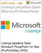 Licen�a perp�tua Open Microsoft PowerPoint for Mac [PwrPointMac] SNGL [LicSAPk] Licen�a + Software Assurance OLP NL  (Figura somente ilustrativa, n�o representa o produto real)