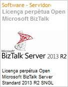 Licen�a perp�tua Open Microsoft BizTalk Server Standard 2013 R2 SNGL Academic OPEN 2 Licenses No Level Core License Qualified [QLFD]  (Figura somente ilustrativa, n�o representa o produto real)