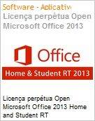 Licen�a perp�tua Open Microsoft Office 2013 Home and Student RT OffHomeandStdntRT SNGL OLP NL (Somente para Tabelets Windows 8 RT)  (Figura somente ilustrativa, n�o representa o produto real)
