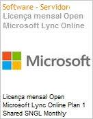 Licen�a mensal Open Microsoft Lync Online Plan 1 Shared SNGL Monthly Subscriptions 1 NL Qualified [QLFD] Annual  (Figura somente ilustrativa, n�o representa o produto real)