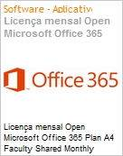 Licen�a mensal Open Microsoft Office 365 Plan A4 Faculty Shared Monthly Subscriptions Volume License Off365PlnA4OpnFclty ShrdSvr SNGL SubsVL OLP NL Annual Acdmc [Educacional][QLFD] (Figura somente ilustrativa, n�o representa o produto real)