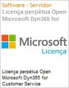 Licença perpétua Open Microsoft Dyn365 for Customer Service Dyn365ForCustmrSrvc SNGL SA OLP NL [QLFD] Offer User CAL fromCRMBsc  (Figura somente ilustrativa, não representa o produto real)
